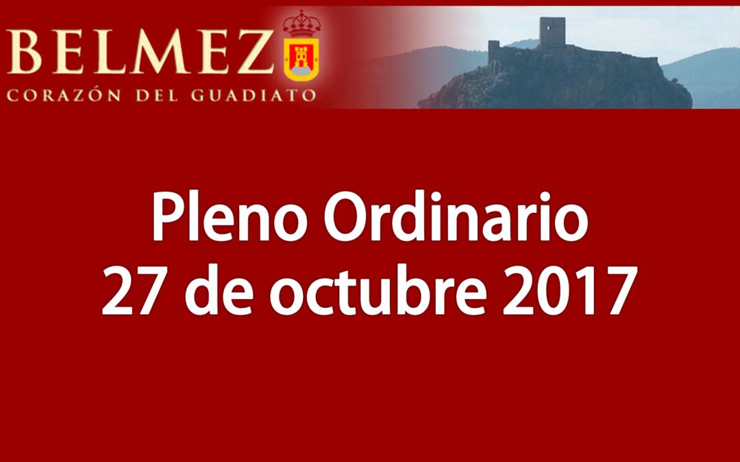 Pleno Ordinario 27 de octubre de 2017