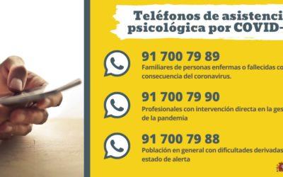 El Ministerio de Sanidad y el Consejo General de Psicólogos activan un teléfono de apoyo para la población afectada por la COVID-19
