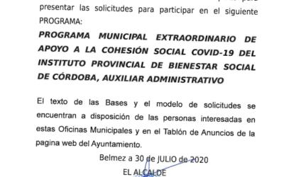 Contratación Auxiliar Administrativo