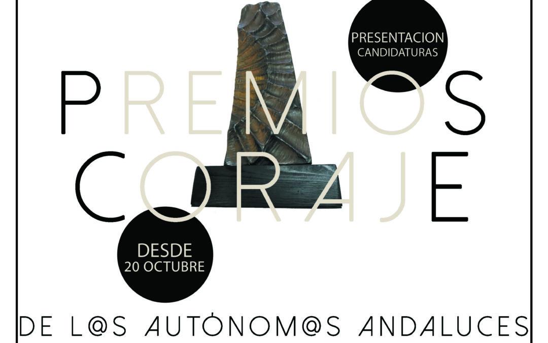 ABIERTO PLAZO DE CANDIDATURAS DE LA V EDICIÓN DE LOS PREMIOS CORAJE DE L@S AUTÓNOM@S ANDALUCES