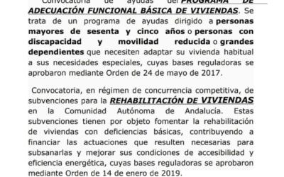 Programa de adecuación funcional básica de viviendas