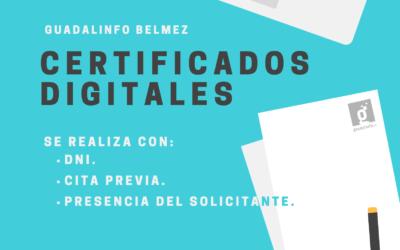 Certificados Digitales en Guadalinfo Belmez
