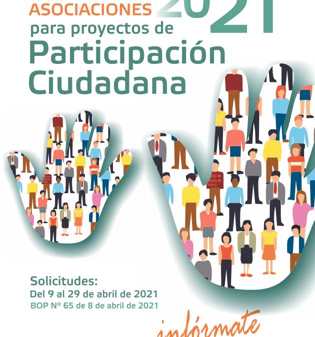 2021. Convocatoria de subvenciones a Asociaciones que desarrollen proyectos, programas y actividades de participación ciudadana en la provincia de Córdoba