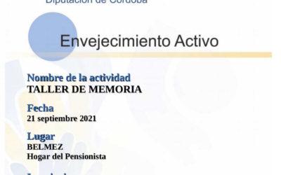 COMIENZO DE LOS TALLERES DE MEMORIA (en BELMEZ)