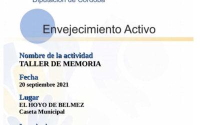 COMIENZO DE LOS TALLERES DE MEMORIA (en EL HOYO)